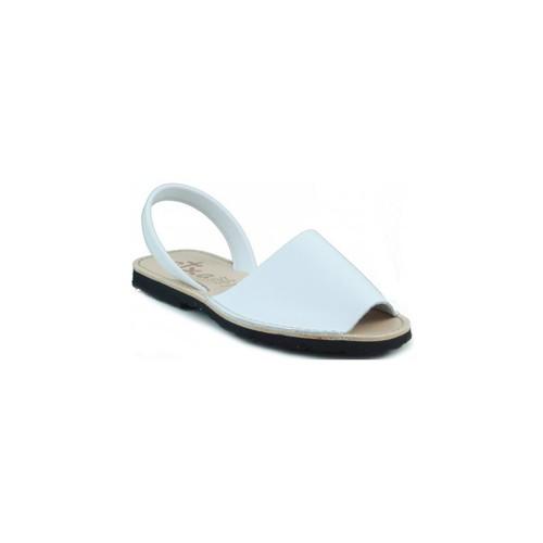 Chaussures Mules Arantxa Minorque  de la peau BLANC