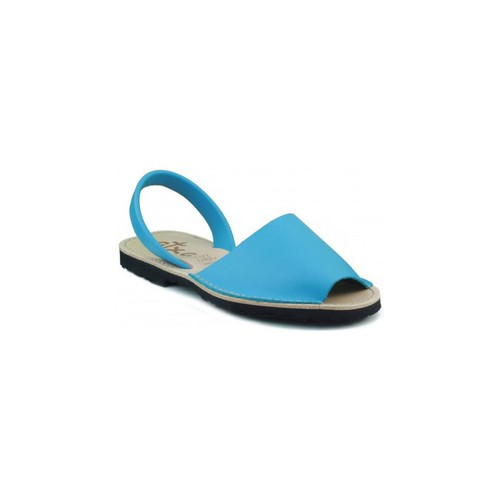Chaussures Mules Arantxa Minorque  de la peau CELESTE