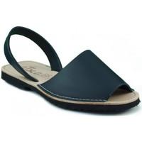 Chaussures Mules Arantxa Minorque  de la peau MARIN