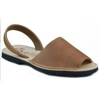 Chaussures Mules Arantxa Minorque  de la peau BRUN