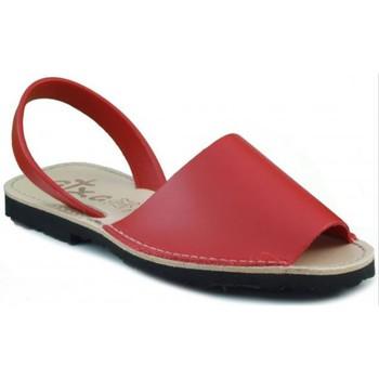 Chaussures Mules Arantxa Minorque  de la peau ROUGE