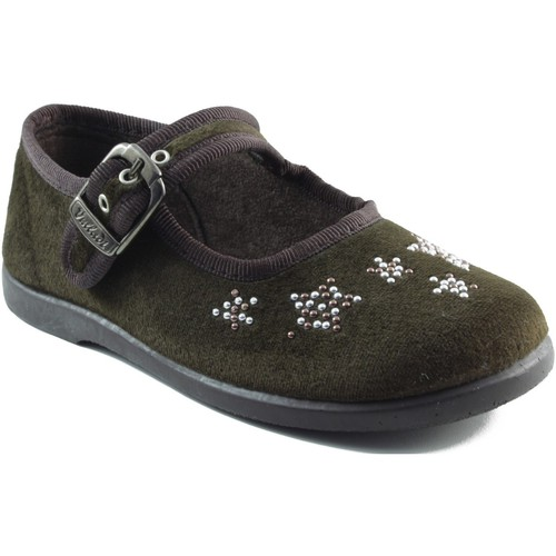 Chaussures Fille Ballerines / babies Vulladi Filles letinas BRUN