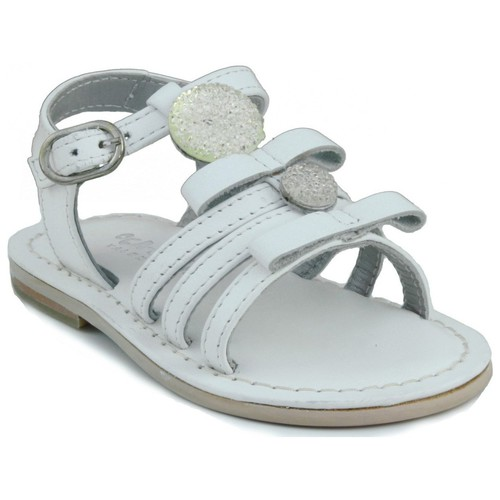 Chaussures Fille Sandales et Nu-pieds Oca Loca OCA APRP bébé en cuir sandale BLANC
