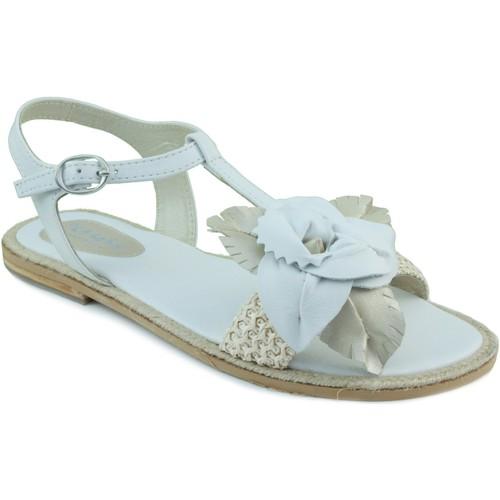 Chaussures Fille Sandales et Nu-pieds Oca Loca OCA LOCA sandale à raphia BLANC