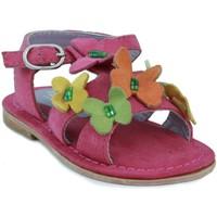 Chaussures Fille Sandales et Nu-pieds Oca Loca OCA LOCA nubuck sandales fille FUXIA