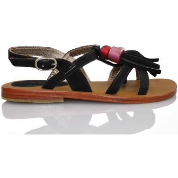 Chaussures Fille Sandales et Nu-pieds Oca Loca OCA LOCA sandale à franges NOIR