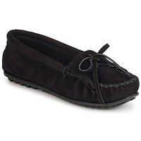 Chaussures Femme Mocassins Minnetonka KILTY SUEDE MOC Black Suede