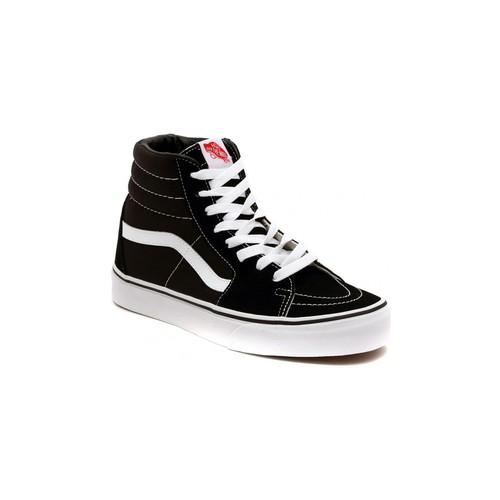 Chaussures Baskets montantes Vans SK8 HI BLACK Argenté