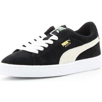 Chaussures Enfant Baskets basses Puma SUEDE JR Noir/Blanc