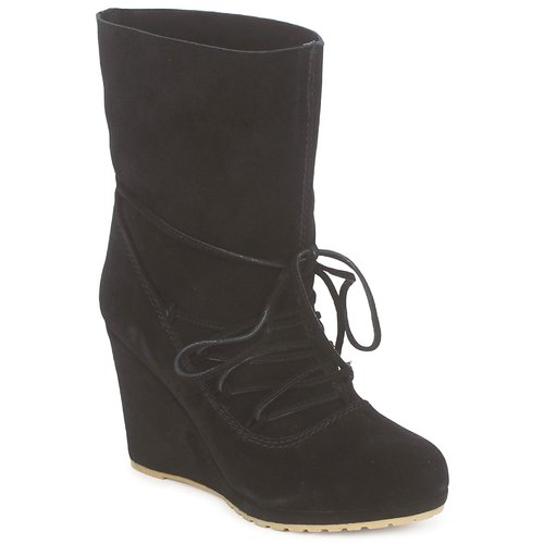 Chaussures Femme Bottines Chinese Laundry PENNY CROSSING SUEDE BLACK