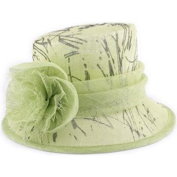 Accessoires textile Femme Chapeaux Léon Montane Chapeau Mariage Junon en sisal Anis et Noir Vert