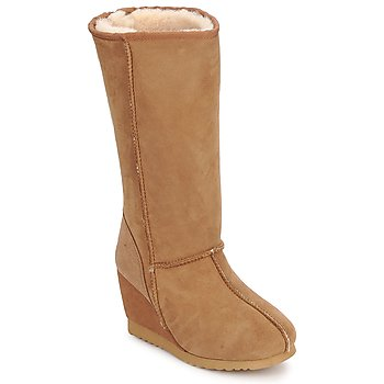 Chaussures Femme Bottes ville Love From Australia WEDGE ZIP TALL CARAMEL