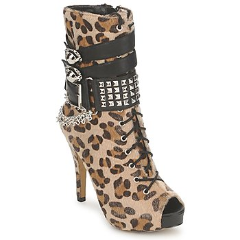 Chaussures Femme Bottines Abbey Dawn PLATFORM BOOTEE Leopard Print