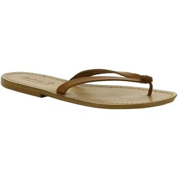 Chaussures Femme Mules Gianluca - L'artigiano Del Cuoio 540 D CUOIO CUOIO Cuoio