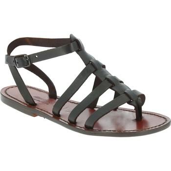 Chaussures Homme Sandales et Nu-pieds Gianluca - L'artigiano Del Cuoio 505 D MORO CUOIO Testa di Moro