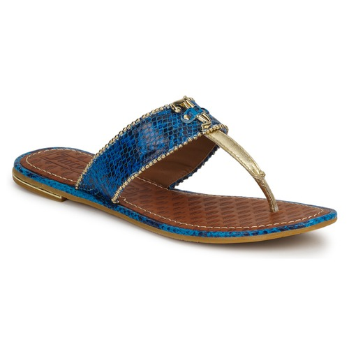 Femme Adeline Blue Chaussures Couture Bright Nu Sandales Et Snake pieds Juicy IHEDWY29