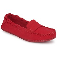 Chaussures Femme Mocassins Mocks CANVAS SADDLE HAVANA RED