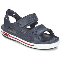 Chaussures Garçon Sabots Crocs CROCBAND II SANDAL PS Marine / Blanc