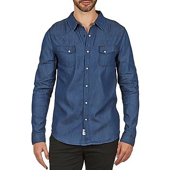 Chemises Japan Rags RONDAL Bleu 350x350