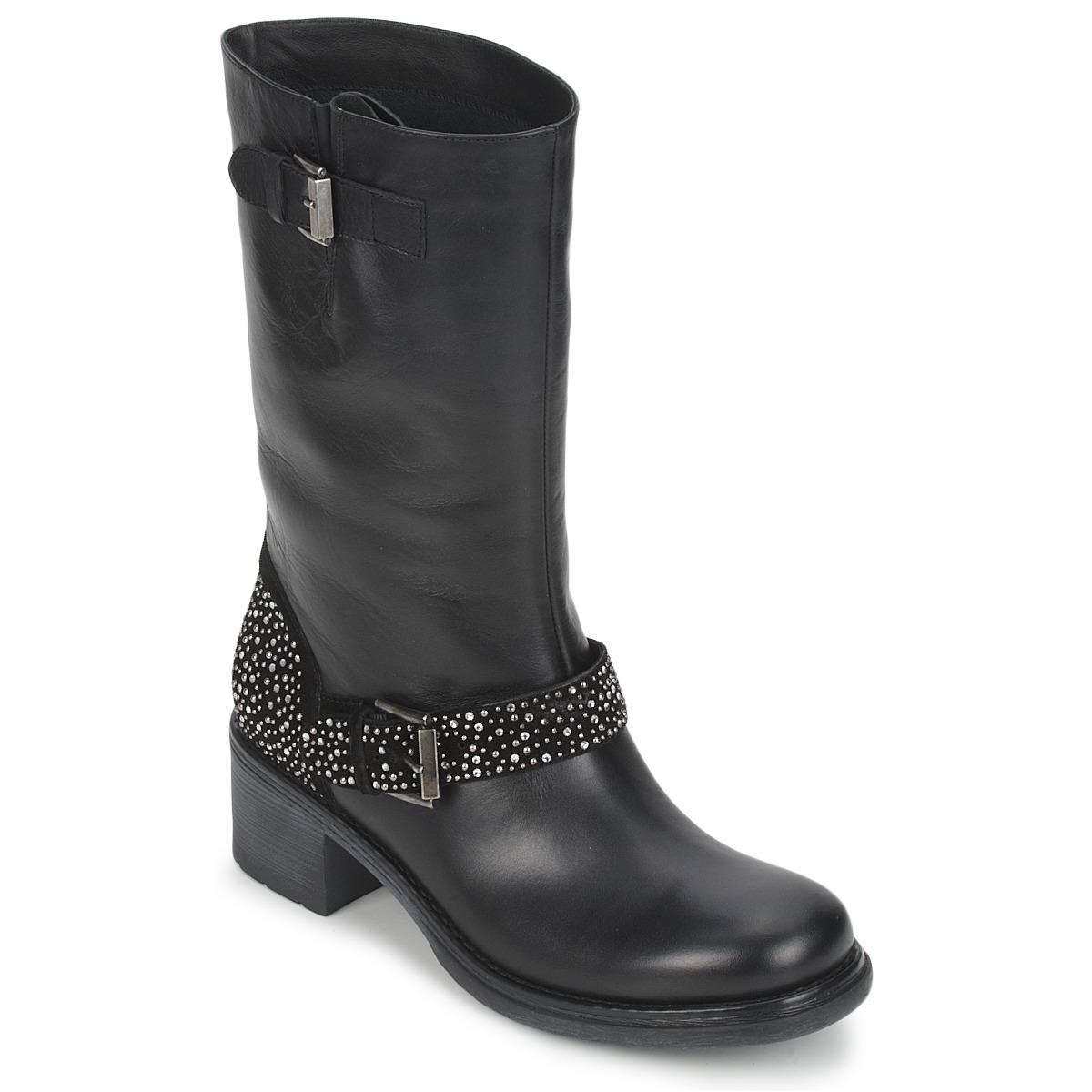 Janet Sport CARYFENO Noir - Livraison Gratuite avec  - Chaussures Boot Femme