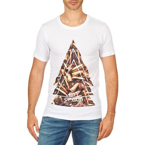 Vêtements Homme T-shirts manches courtes Eleven Paris CITYGOD M MEN Blanc