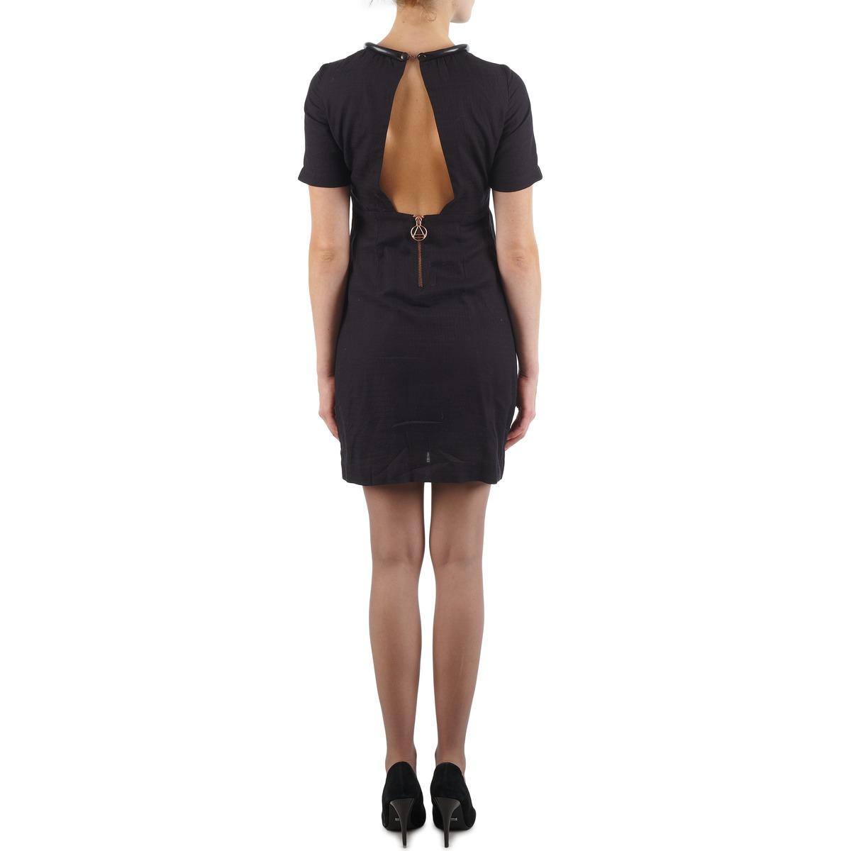 Eleven Paris Town Women Noir - Livraison Gratuite Vêtements Robes Courtes Femme 79,19 €