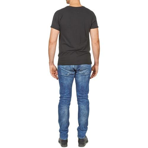Eleven Courtes Paris shirts T Noir Homme Men Manches Wolypock F1uK3clJT
