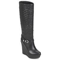 Chaussures Femme Bottes ville Versace DSL909R Noir