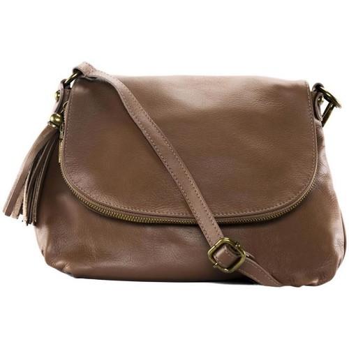 Sacs Femme Sacs Bandoulière Oh My Bag Sac à Main cuir souple - Modèle 72 heures (petit) taupe foncé TAUPE FONCE