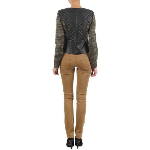 Manoukian Queelt Noir / Or - Livraison Gratuite- Vêtements Vestes Blazers Femme 11120 EKWci