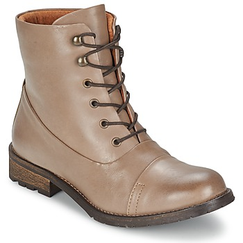 Bottines / Boots Pieces SENIDA LEATHER BOOT Taupe 350x350