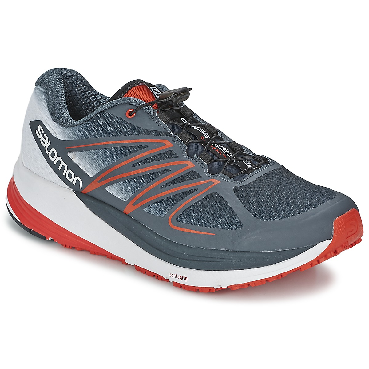 Chaussures-de-running Salomon SENSE PROPULSE Gris / Rouge