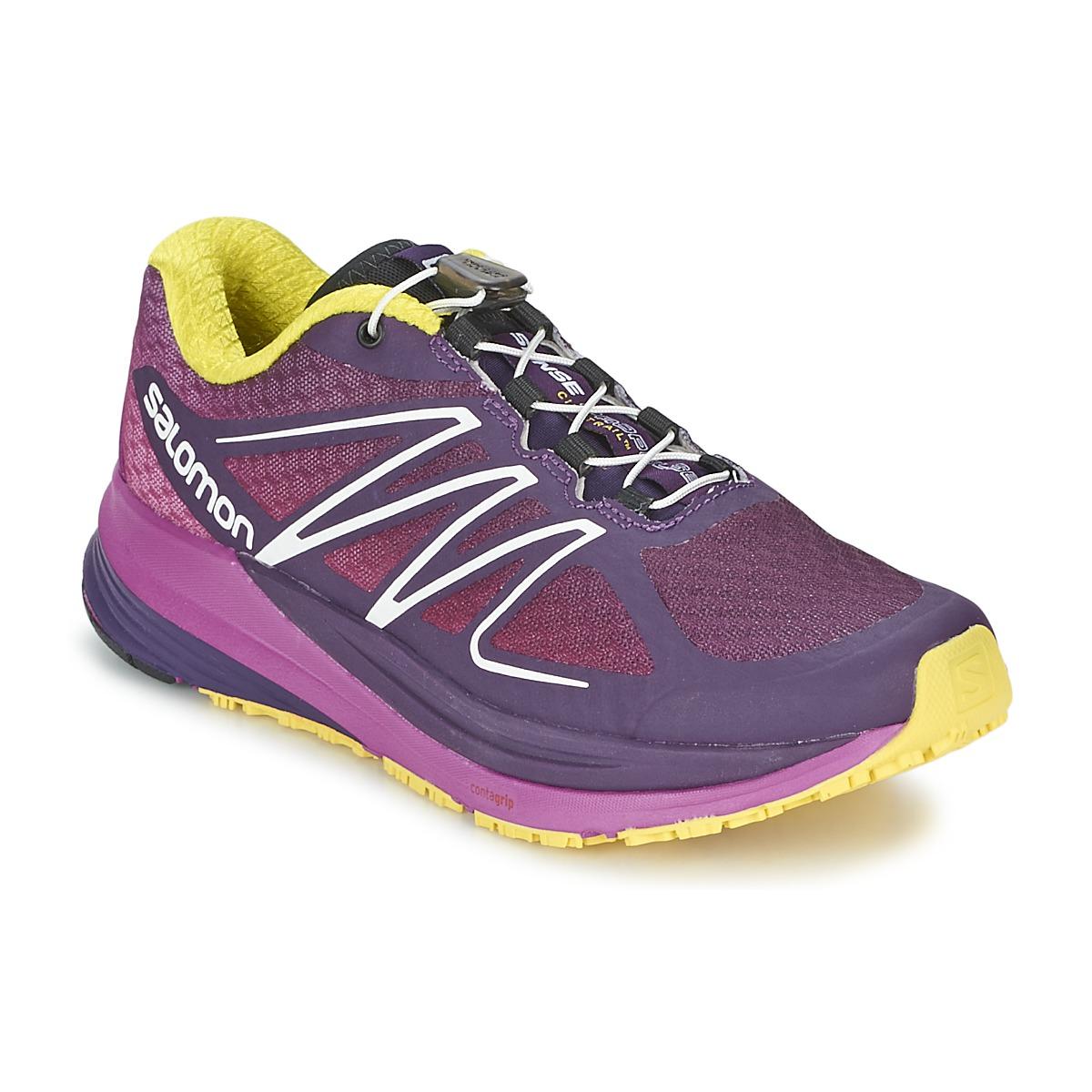 Chaussures-de-running Salomon SENSE PROPULSE W Violet / Rose / Jaune