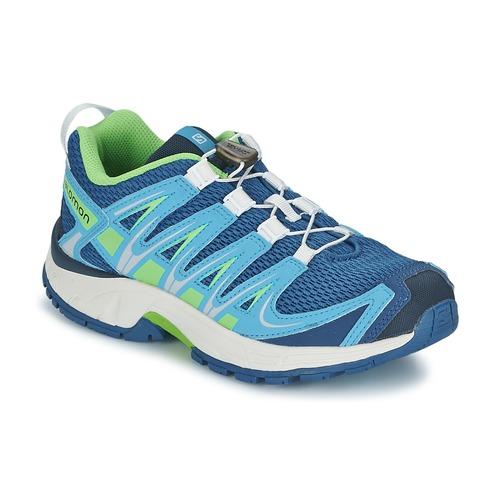Chaussures Enfant Multisport Salomon XA PRO 3D JUNIOR Bleu / Vert