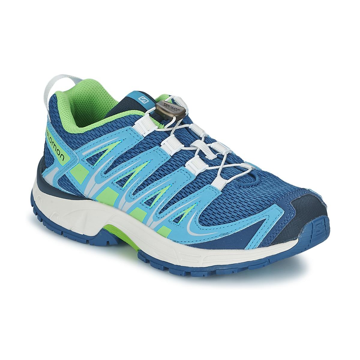 Chaussures-de-sport Salomon XA PRO 3D JUNIOR Bleu / Vert