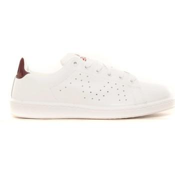 Chaussures Femme Baskets basses Cassis Côte D'azur Baskets Marine blanc et bordeaux Blanc