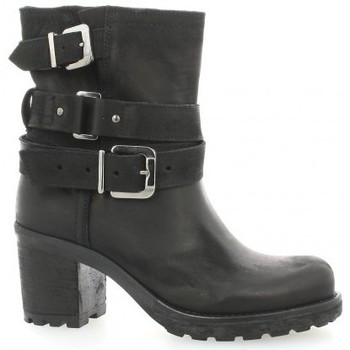 Pao Boots cuir nubuck Marine - Chaussures Boot Femme