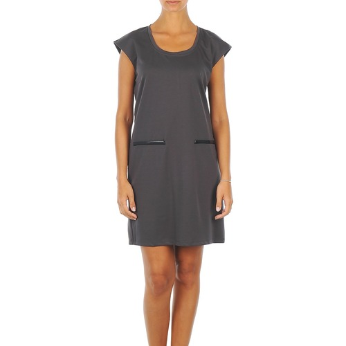 Vêtements Femme Robes courtes Vero Moda CELINA S/L SHORT DRESS Gris
