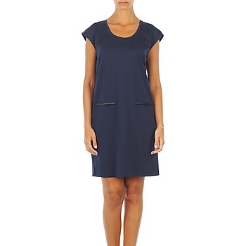 Robes Vero Moda CELINA S/L SHORT DRESS Marine 350x350
