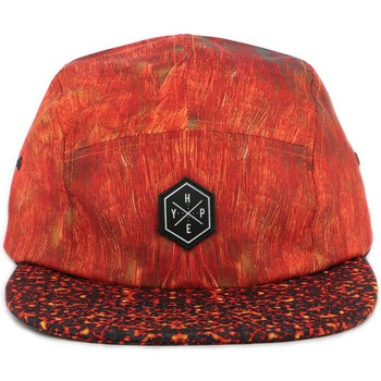 Casquettes Hype Casquette 5 panel  RED FEATHERS Rouge