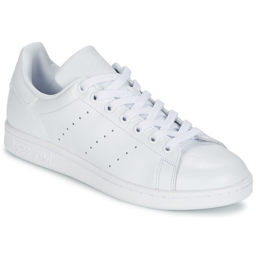 adidas Originals stan smith j Blanc - Chaussures Baskets basses