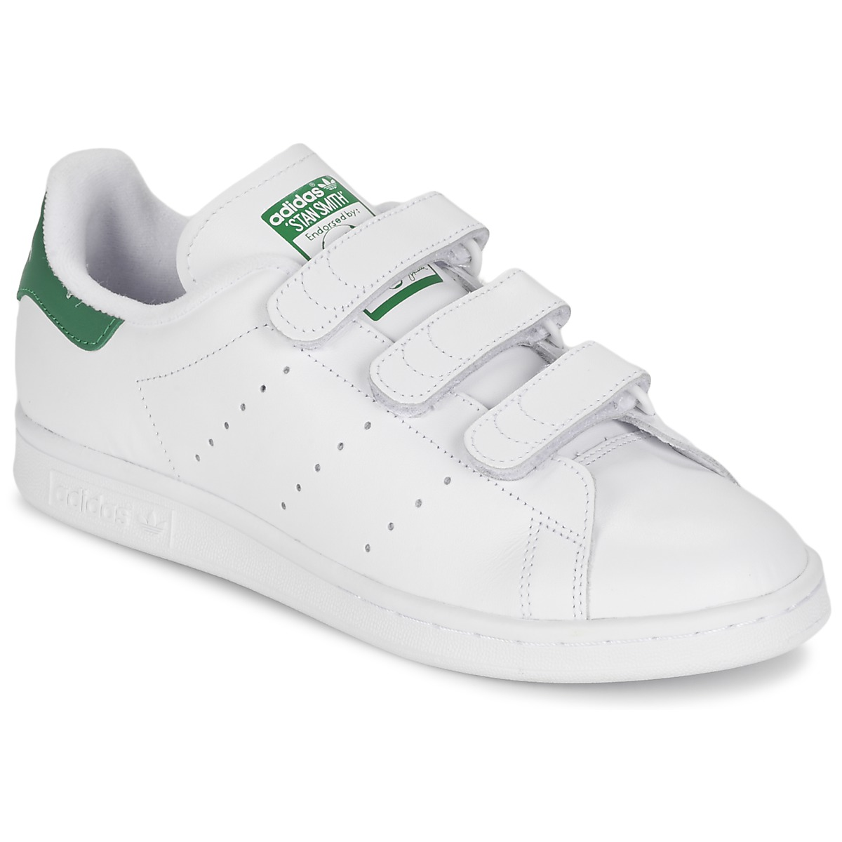 new arrival 4f9f7 7b6df Chaussures Baskets basses adidas Originals STAN SMITH CF Blanc   vert