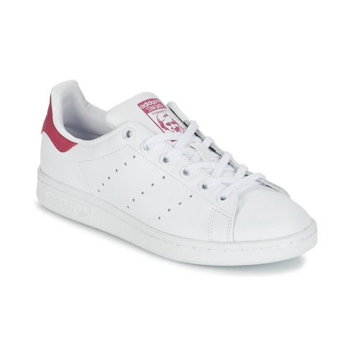 Chaussures Fille Baskets basses adidas Originals STAN SMITH J Blanc 720e3eb2941d