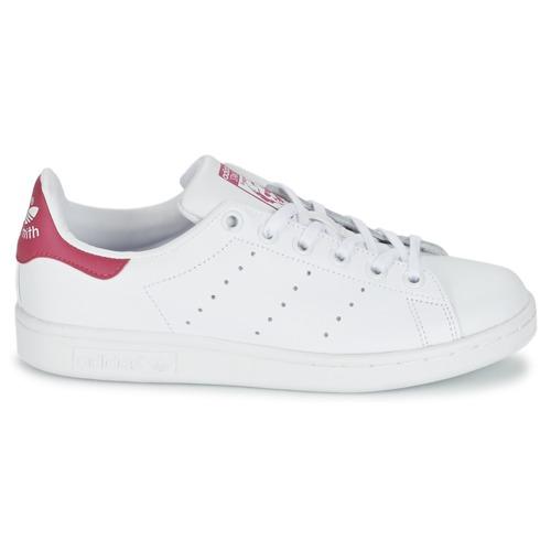 Blanc Fille Smith Basses Adidas J Baskets Chaussures Originals Stan 5ARjL4