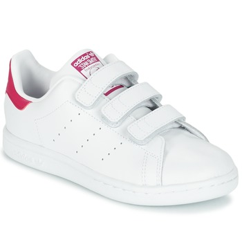 f183831b45d37 Chaussures Fille Baskets basses adidas Originals STAN SMITH CF C Blanc
