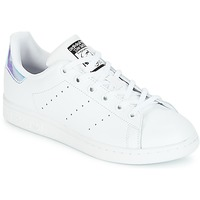 best loved de6c3 2db7a Chaussures Fille Baskets basses adidas Originals STAN SMITH J Blanc