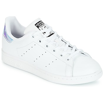 best loved 08054 8db73 Chaussures Fille Baskets basses adidas Originals STAN SMITH J Blanc
