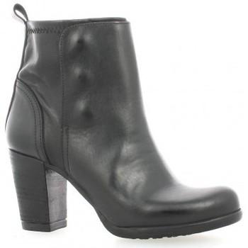 Chaussures Femme Bottines Life Boots cuir Noir