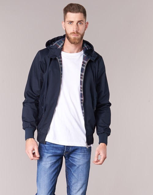 Vêtements Homme Blousons Harrington HARRINGTON HOODED Marine