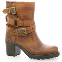 Chaussures Femme Bottines Pao Boots cuir nubuck Cognac